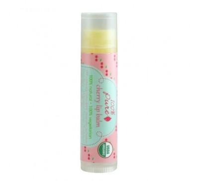 Balsam organic de buze - aroma de cirese