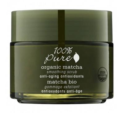 Exfoliant facial cu extract de Ceai Organic Matcha şi antioxidanţii