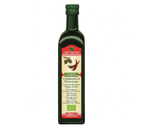 BIO Ulei de Masline Extra Virgin cu Infuzie naturala de Ardei Iute 0.25 L