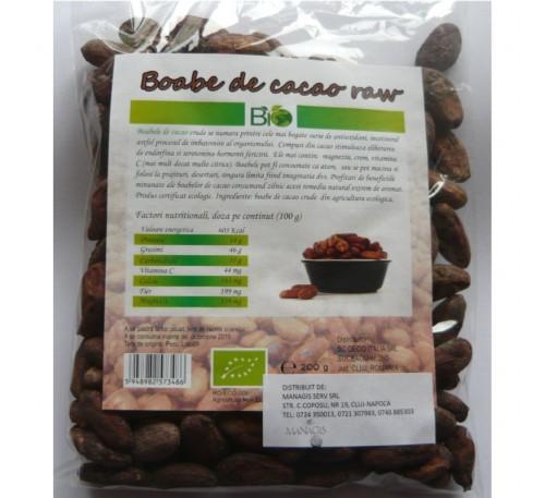 Boabe de cacao crude 200g