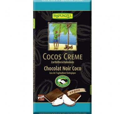 Ciocolata amaruie cu umplutura de crema de cocos VEGANA