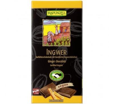 Ciocolata amaruie cu Ghimbir si 55% cacao VEGANA
