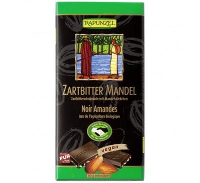 Ciocolata amaruie cu Migdale si 55% cacao VEGANA