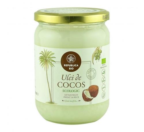Ulei de cocos Republica BIO 500 ml, extravirgin, presat la rece, bio