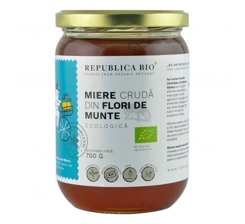 Miere ecologica poliflora cruda din Flori de Munte Republica BIO, 700g